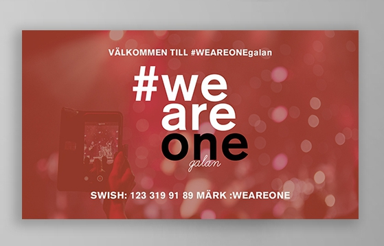 Screen design WEAREONE galan